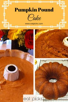 Pumpkin Pound Cake is dense and delicious and baked in a bundt pan to make for easy serving! Perfect fall and holiday dessert! Pumpkin Pound Cake is dense and delicious and baked in a bundt pan to make for easy serving! Perfect fall and holiday dessert! Pumpkin Pound Cake, Baked Pumpkin, Pumpkin Cheesecake, Pumpkin Recipes, Starbucks Pumpkin Bread, Pumpkin Spice, Pumpkin Bars, Pumpkin Dessert, Baking Recipes