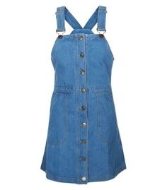 Dance 'til you drop with our party dresses for women. From glitzy going out dresses to elegant party dresses for women, shop your favourites at New Look. Denim Pinafore, Pinafore Dress, Lookbook Mode, Fashion Lookbook, Day Dresses, Evening Dresses, Summer Dresses, Pinny Dress, Button Front Dress