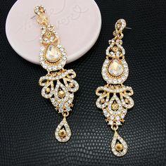 Large Crystal Drop Earrings – Little Luxuries Designs