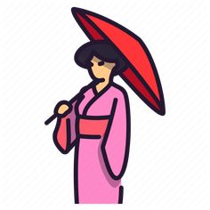 'Japan Trip' by Utha Icons All Icon, More Icon, Icon Set, Japan Icon, Iconic Women, Geisha, Japan Travel, Vector Icons, Kimono