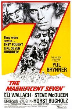 The Magnificent Seven (1960) Yul Brynner, Steve McQueen, Charles Bronson, James Coburn, Eli Wallach, Robert Vaughn, Brad Dexter