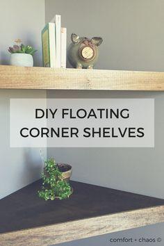 Diy Floating Corner Desk how to make corner floating shelves - detailed instructions