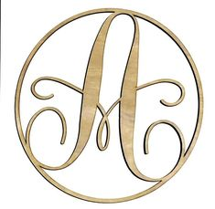 Wood Monogram Letters - A