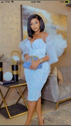 African Bridesmaid Dresses, African Lace Dresses, Latest African Fashion Dresses, African Dresses For Women, Classy Dress, Classy Outfits, Lace Dress Styles, Clear Heels, Event Dresses