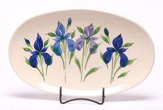 Oval Ceramic Serving Tray - Field of Iris