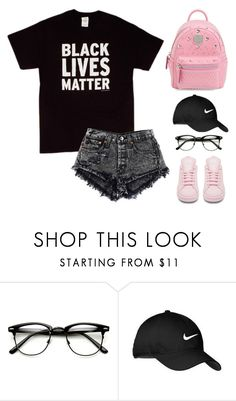 """""""Untitled #1622"""" by i-am-leia ❤ liked on Polyvore featuring Nike Golf and MCM"""
