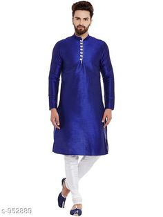 Checkout this latest Kurta Sets Product Name: *Traditional Cotton Blend Men's Kurta Pyjama Set* Top Fabric: Cotton Blend Bottom Fabric: Cotton Blend Scarf Fabric: No Scarf Sleeve Length: Long Sleeves Bottom Type: Churidar Pant Stitch Type: Stitched Pattern: Solid Sizes: S, M, L, XL, XXL Easy Returns Available In Case Of Any Issue   Catalog Rating: ★4.1 (1658)  Catalog Name: Men's Ethnic Fancy Kurta Pyjama Sets Vol 3 CatalogID_112579 C66-SC1201 Code: 578-952889-2751