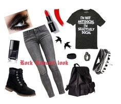 """""""Rock Concert Look"""" by kjboatner on Polyvore featuring Levi's, Timberland and Yves Saint Laurent"""