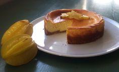 Cheesecake with carambola fruit..moona's creation