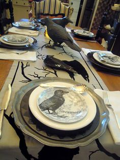 The Raven table setting