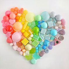 heart of rainbow candy :)
