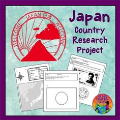 Japan printable research project for kids