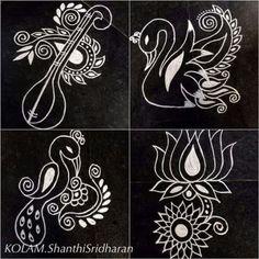 Rangoli Designs Latest, Simple Rangoli Designs Images, Colorful Rangoli Designs, Rangoli Designs Diwali, Beautiful Rangoli Designs, Mehandi Designs, Rangoli Borders, Rangoli Patterns, Rangoli Border Designs