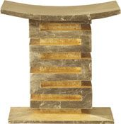 Baker's Thassos Stool from the Thomas Pheasant Collection