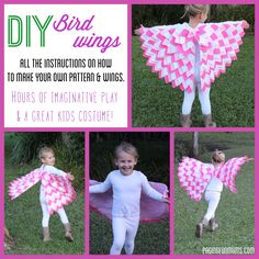 DIY Bird Wings - Make your very own gorgeous Bird Wings at home! Beautiful dress up activity & fantastic gift idea!