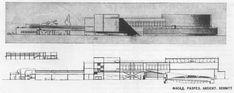 1929. Проект рабочего клуба. И. Ф. Милинис.