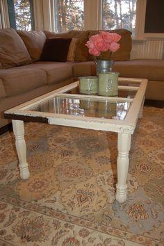 Diy Coffee Table Pinterest | DIY / Window Coffee Table.