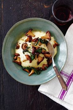 Four-Cheese Polenta with Chanterelle Ragout (recipe taken from the Wall Street Journal).