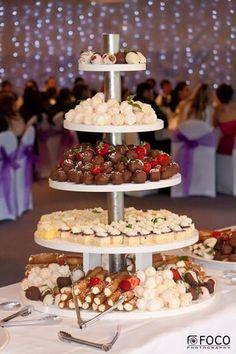 Nathan's groom table !! Dessert Tower... YUM