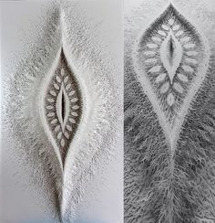Intricate Organic Forms Cut from Paper by Rogan Brown sculpture paper.