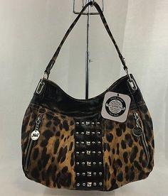 Kathy Van Zeeland  Handbag Wish List Hobo Brown Leopard