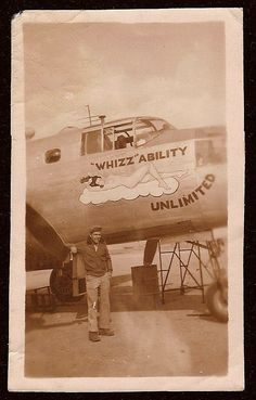 """World War 2 B-25 bomber plane Nose Art - """"WHIZZ"""" ABILITY UNLIMITED by Rare Book Room, via Flickr  - Salute Our Veterans by Supporting the Businesses of www.VeteransDirectory.com and Hiring Veterans. Post Jobs at www.HireAVeteran.com"""