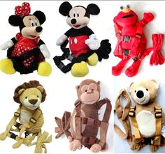 Mickey Minnie Winnie Baby Toddler Kids Keeper Safety Harness Backpack Strap Bag