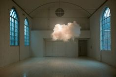 Artist Creates Indoor Clouds Using Humidifiers and Fog Machines
