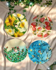Follow Mixindie Cd Crafts, Diy And Crafts, Arts And Crafts, Cd Wall Art, Indie Room Decor, Record Art, Diy Canvas Art, Vinyl Art, Diy Painting