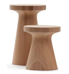 Zen Stool design Ludovica+Roberto Palomba (Outdoor handcrafted from blocks of solid Canadian Red Cedar, with inlay effect. Solid Wood Furniture, Wicker Furniture, Table Furniture, Cool Furniture, Furniture Design, Modern Furniture, Contemporary Bar Stools, Wood Stool, Modern Patio