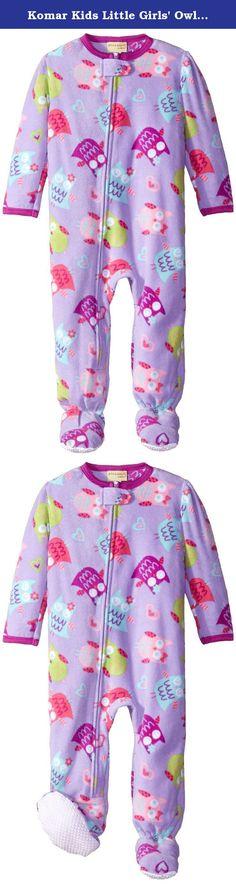 Komar Kids Little Girls  Owl Fleece Blanket Sleeper 204403f36