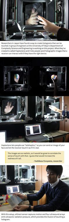 Japanese Researchers Create Touchable Holograms-- what a time to be alive
