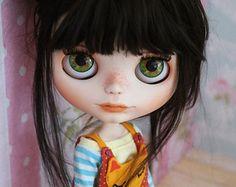 Custom Blythe no. Ooak Dolls, Blythe Dolls, Barbie, Gothic Dolls, Valley Of The Dolls, Creepy Dolls, Little Doll, Custom Dolls, Ball Jointed Dolls
