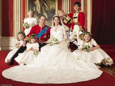 Adore this photo of William & Kate with their bridesmaids & page boys 2011!