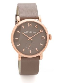Marc by Marc Jacobs Leather Baker Watch - Shopbop