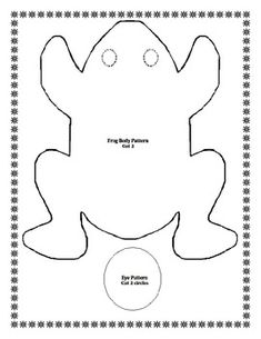 FROG Bean Bag Project and Writing Sheet