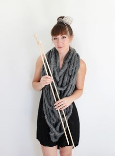 Yarn and knitting needles costume Knitting Needles, Knitting Yarn, Easy Costumes, Halloween 2, Chunky Yarn, Easy Peasy, Refashion, Party, Fashion Outfits