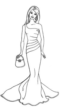 Barbie Fashion Coloring Pages 162