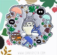 Totoro Enamel Pin Kawaii My Neighbor Ghibli Anime Movie Lapel Catbus Miyazaki Woodland Soot Sprite Gift Brooch Soft Fandom Chibi Jewelry Art by CanisPicta on Etsy https://www.etsy.com/listing/493620643/totoro-enamel-pin-kawaii-my-neighbor