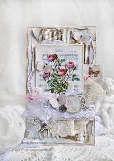 Shabby chic greeting card