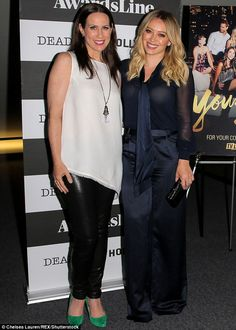 Style standout: Hilary Duff, 28, was a classic beauty at a Los Angeles screening of her TV...