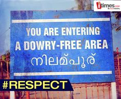 """Yes, this is TRUE! There is a small town in Kerela which is the only """"Dowry-free"""" town in #India. #ABigSalute! To know more"""