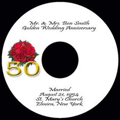 50th wedding anniversary cd