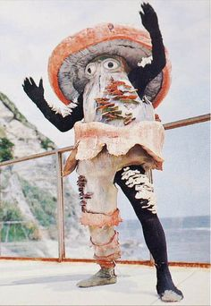 Mushroom costume. I have no idea what's going on here and I love it.