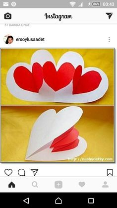 heart pop up Valentine's Day Gift Baskets – Valentine's Day Tips Mothers Day Crafts, Valentine Day Crafts, Holiday Crafts, Pop Up Valentine Cards, Valentine Heart, Diy And Crafts, Crafts For Kids, Paper Crafts, Valentines Bricolage