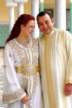 I ❤ Moroccan Fashion - mh. King Mohamed VI and his wife! www.facebook.com/Welcome.Morocco