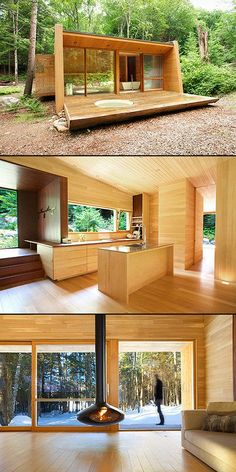 5 Awesome Homes That Think Outside the Box Tiny House Cabin, Tiny House Living, Tiny House Design, Casas Containers, Container House Plans, Shipping Container Cabin, Container Houses, Earthship, House In The Woods