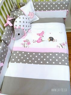 Your place to buy and sell all things handmade Baby Girl Bedding Sets, Crib Skirts, Handmade Design, Cool Baby Stuff, Decoration, Girl Room, Pillow Inserts, Pillow Covers, Toddler Bed