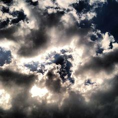Sky over a baseball field...
