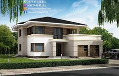 Best Modern House Design, Contemporary House Plans, Dream Home Design, House Front Door, House Front Design, Sims Building, Facade Design, Home Fashion, Future House